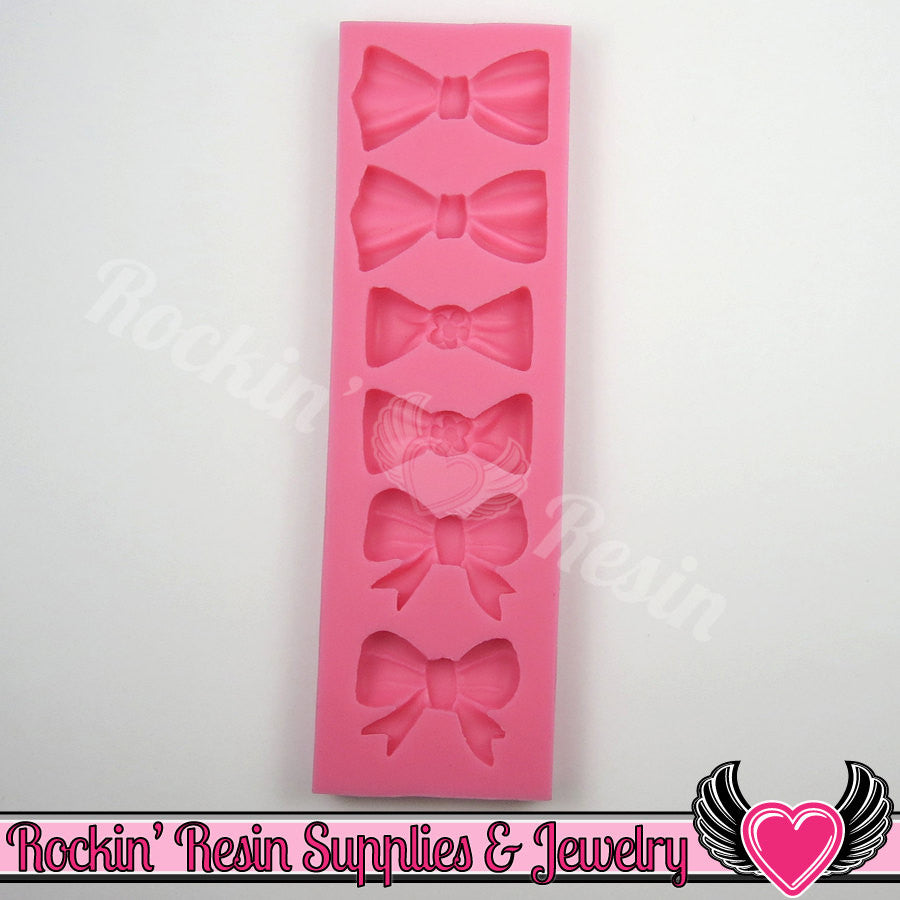 6 BOWS SILICONE MOLD, Food Grade