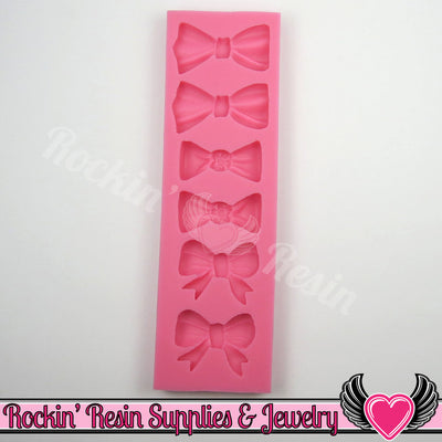 6 BOWS SILICONE MOLD, Food Grade - Rockin Resin  - 1