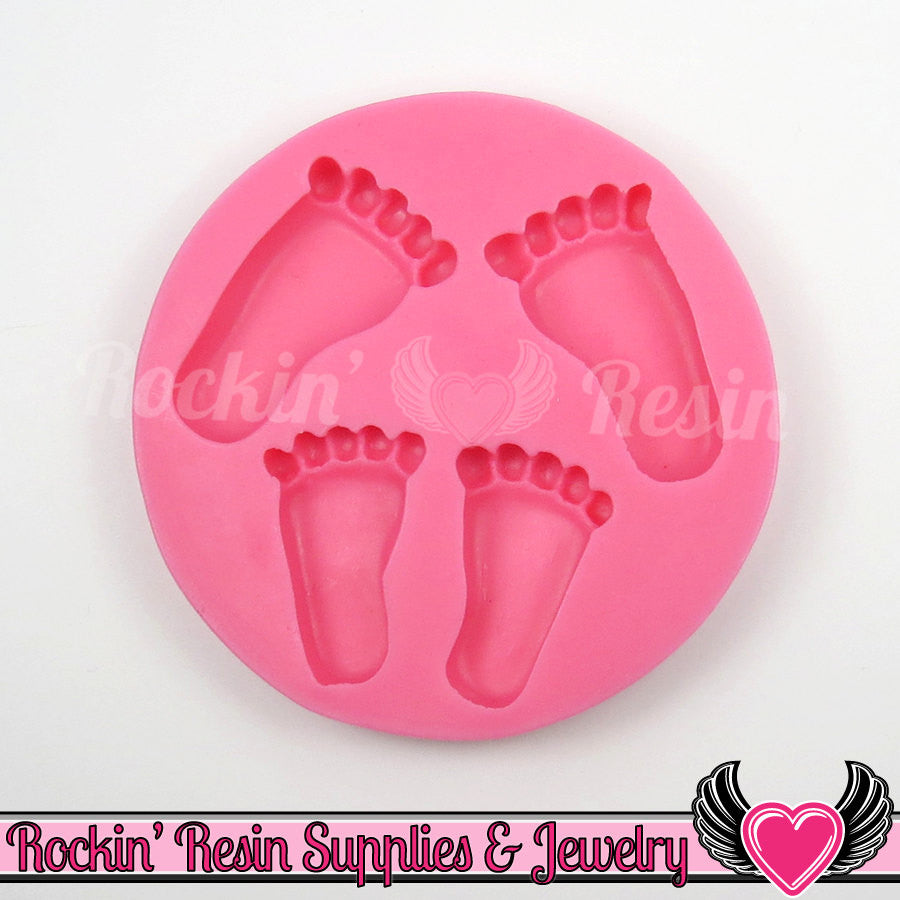 Baby Feet SILICONE MOLD, Food Grade