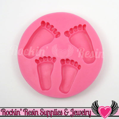 Baby Feet SILICONE MOLD, Food Grade - Rockin Resin  - 1