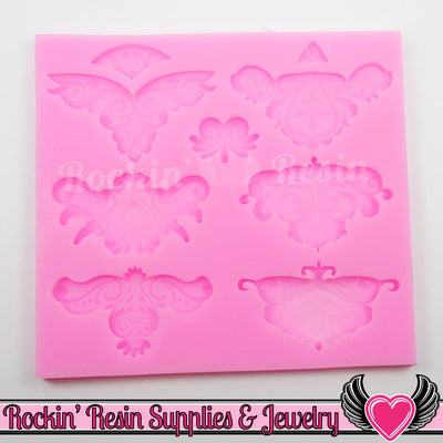 Damask Scroll SILICONE MOLD, Food Grade - Rockin Resin  - 1