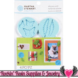 Woodland Martha Stewart SILICONE MOLD Butterflies, Acorns, Fern, & Leaf - Rockin Resin  - 2