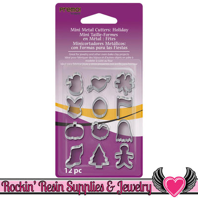 Sculpey Premo 12 HOLIDAY MINI CUTTERS - Rockin Resin