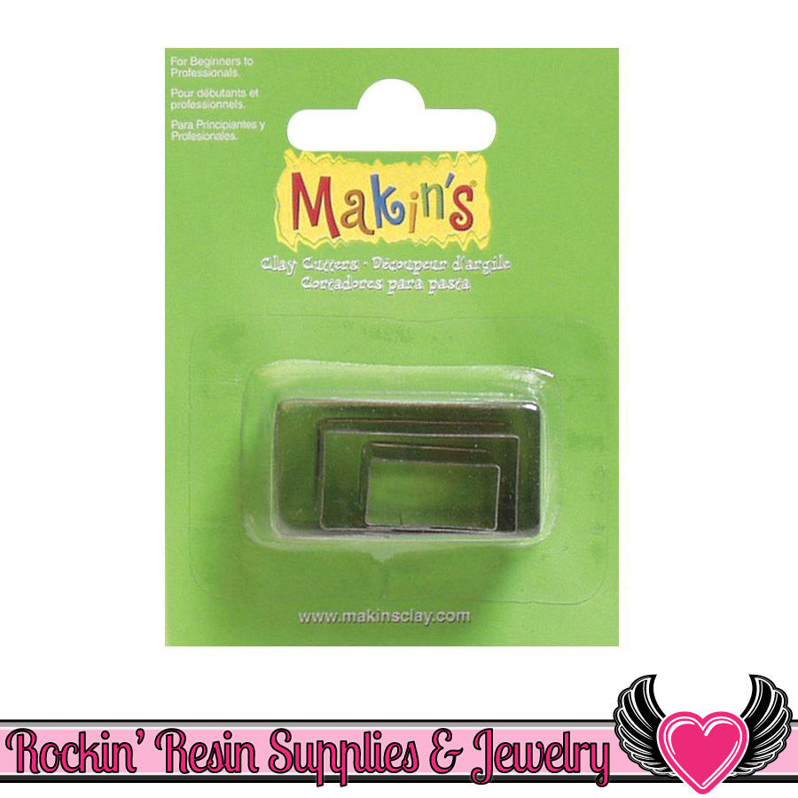 Makin's 3 piece RECTANGLE COOKIE CUTTERS - Rockin Resin
