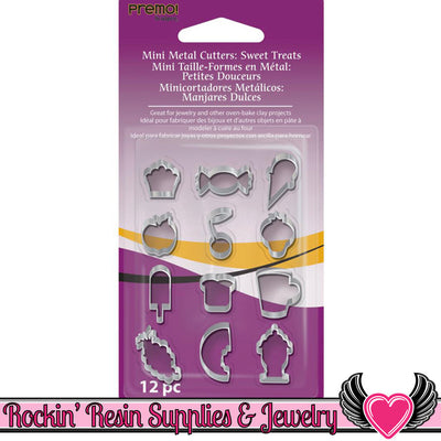 Sculpey Premo 12 Sweet Treats MINI CUTTERS - Rockin Resin