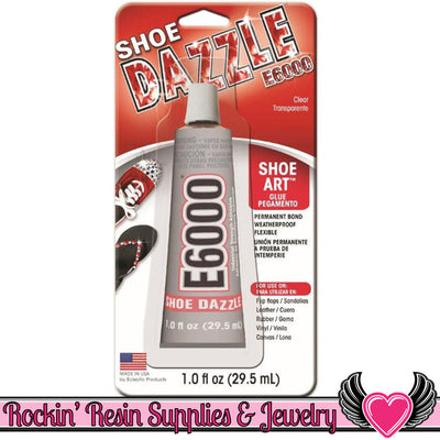 E-6000 Shoe Dazzle Shoe Art Glue Adhesive, 1 fl. Oz. - Rockin Resin