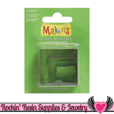 Makin's 3 piece SQUARE COOKIE CUTTERS - Rockin Resin