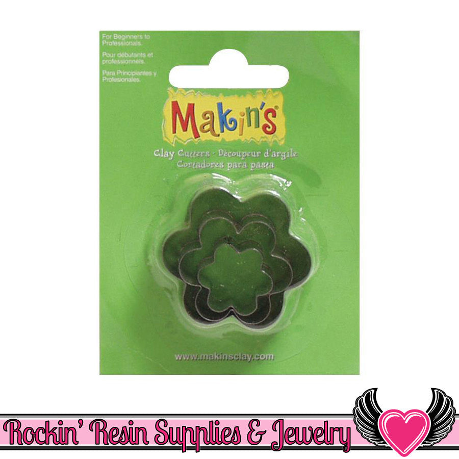 Makin's 3 piece FLOWER COOKIE CUTTERS