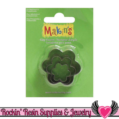 Makin's 3 piece FLOWER COOKIE CUTTERS - Rockin Resin
