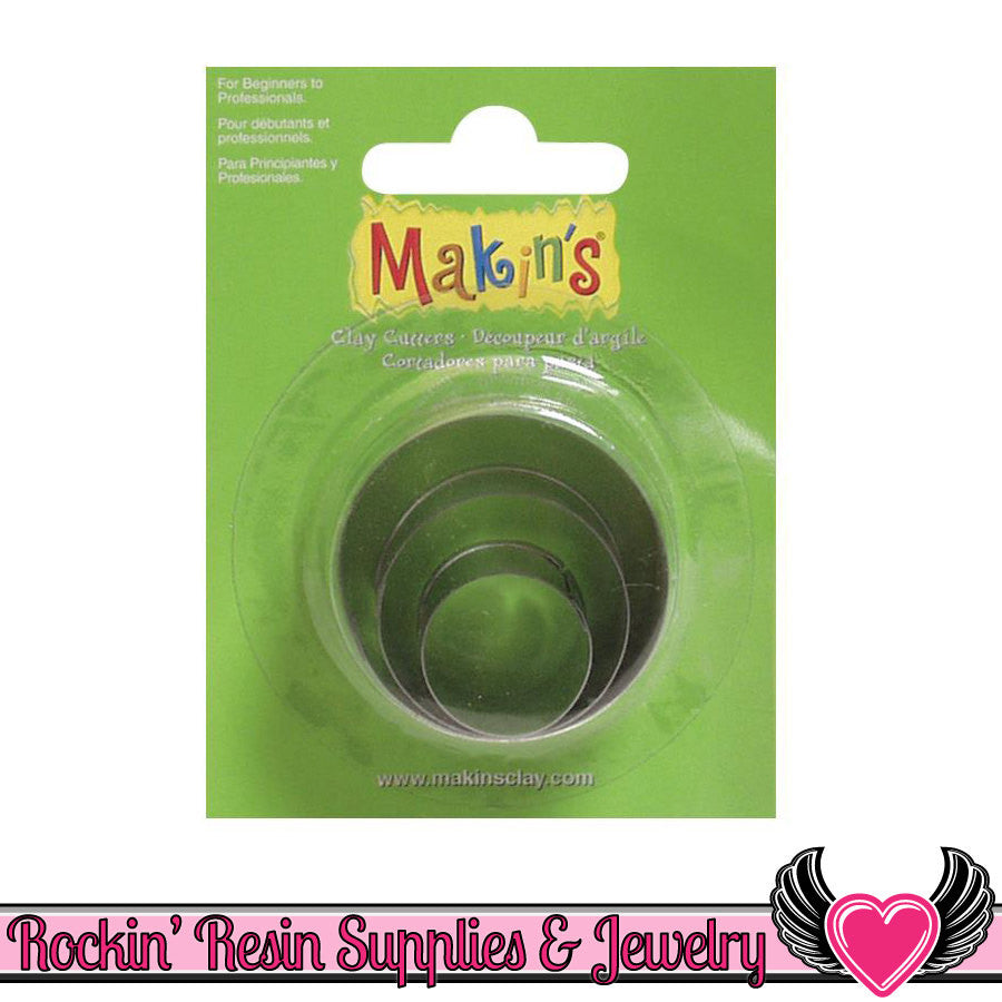 Makin's 3 piece Round CIRCLE COOKIE CUTTERS