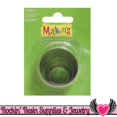 Makin's 3 piece Round CIRCLE COOKIE CUTTERS - Rockin Resin
