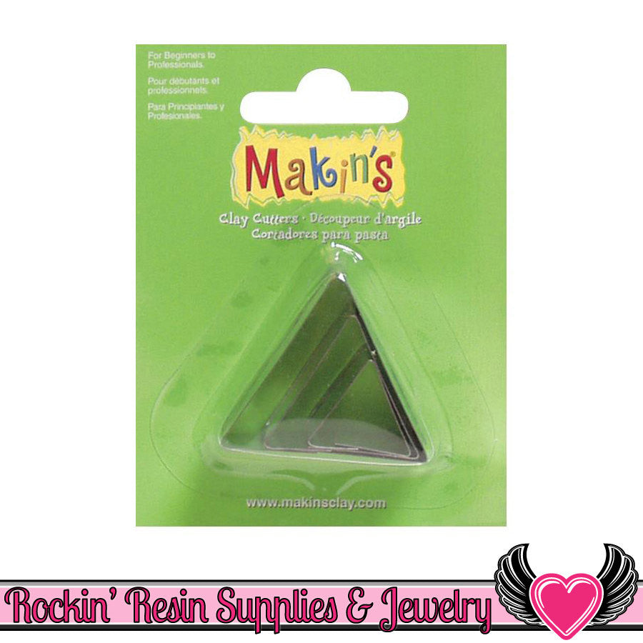 Makin's 3 piece TRIANGLE COOKIE CUTTERS