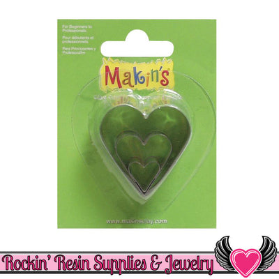 Makin's 3 piece HEART COOKIE CUTTERS - Rockin Resin