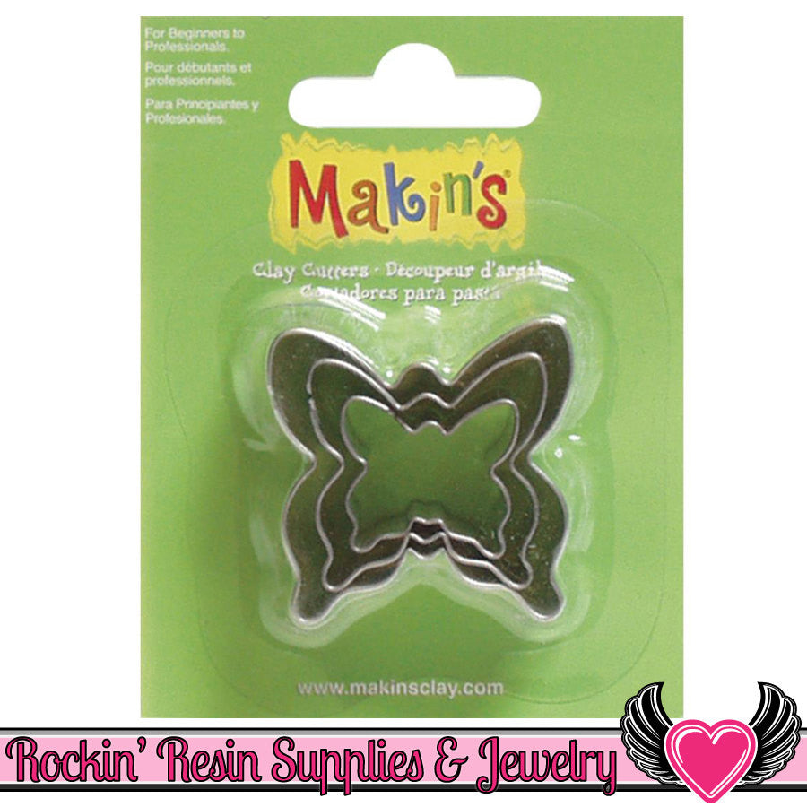 Makin's 3 piece BUTTERFLY COOKIE CUTTERS