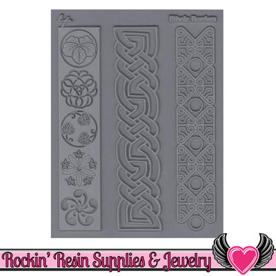 ETHNIC BORDERS Lisa Pavelka Texture Stamp - Rockin Resin  - 1