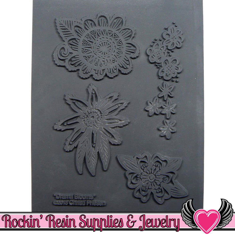 DRAMA BLOOMS Christi Friesen Image Texture Stamp