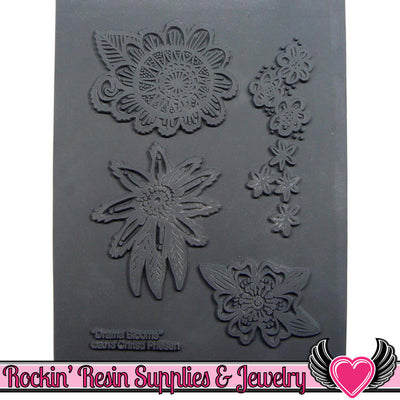 DRAMA BLOOMS Christi Friesen Image Texture Stamp - Rockin Resin