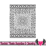 Persian Carpet Lisa Pavelka Texture Stamp - Rockin Resin  - 2