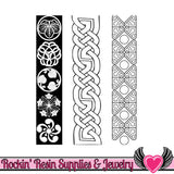 ETHNIC BORDERS Lisa Pavelka Texture Stamp - Rockin Resin  - 2