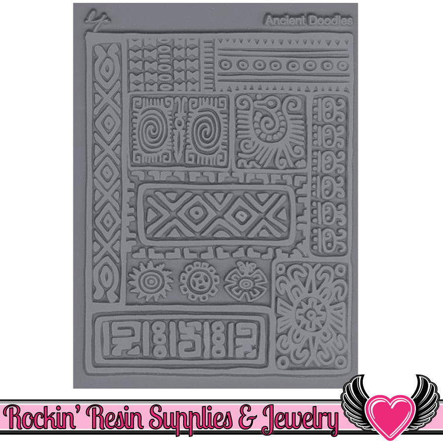 ANCIENT DOODLES Lisa Pavelka Texture Stamp - Rockin Resin  - 1