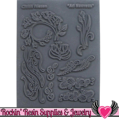 ART NOUVEAU Christi Friesen Image Texture Stamp - Rockin Resin