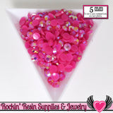 200 pcs 5mm AB HoT PINK RHINESTONES - Rockin Resin  - 1