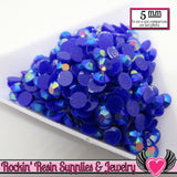 200 pcs 5mm AB Dark Blue Jelly RHINESTONES - Rockin Resin  - 1