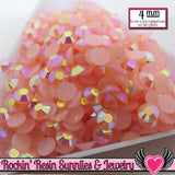 4mm 200 pcs AB Light PINK Jelly RHINESTONES - Rockin Resin  - 1