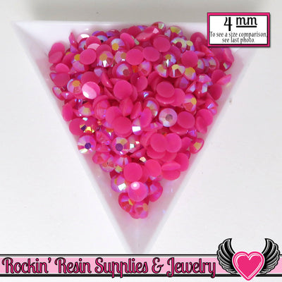 200 pcs 4mm AB HoT PINK RHINESTONES - Rockin Resin  - 1