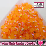 300 pcs 3mm AB Jelly TANGERINE ORANGE Candy Rhinestones - Rockin Resin  - 1