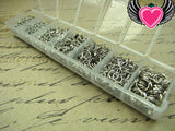 1500 pcs Antique Silver Open Jump Rings Set with Box 3-8mm - Rockin Resin  - 1