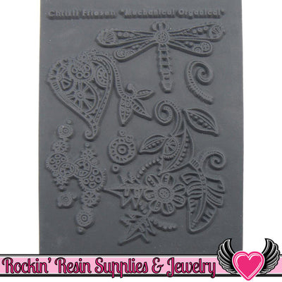 MECHANICAL ORGANICAL Christi Friesen Image Texture Stamp - Rockin Resin  - 1