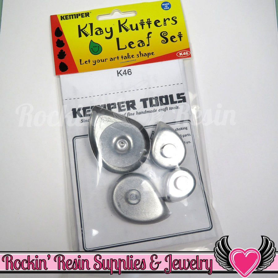 Kemper Klay Kutter LEAF SET Push Out Plunger Hole Clay Cutter - Rockin Resin  - 1