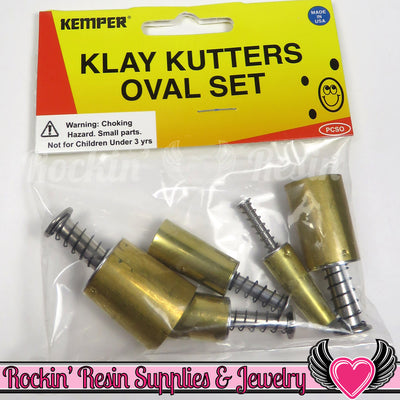 Kemper Klay Kutters 5pc Oval Shape Plunger Cutter Set (PCSO) - Rockin Resin