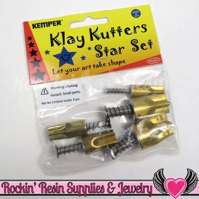 Kemper Klay Kutters 5pc Star Shape Plunger Cutter Set (PCSST) - Rockin Resin