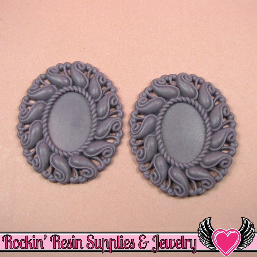 24x17mm Oval Cameo Cameo Settings Light Purple (3 Pieces)