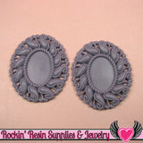 24x17mm Oval Cameo Cameo Settings Light Purple (3 Pieces) - Rockin Resin