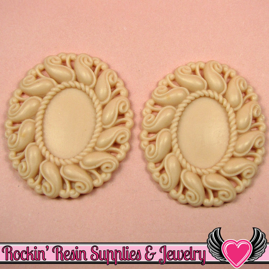 24x17mm Oval Cameo Cameo Settings Beige (3 Pieces)