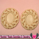 24x17mm Oval Cameo Cameo Settings Beige (3 Pieces) - Rockin Resin
