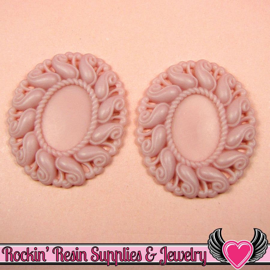 24x17mm Oval Cameo Cameo Settings Pale Lavender (3 Pieces) - Rockin Resin