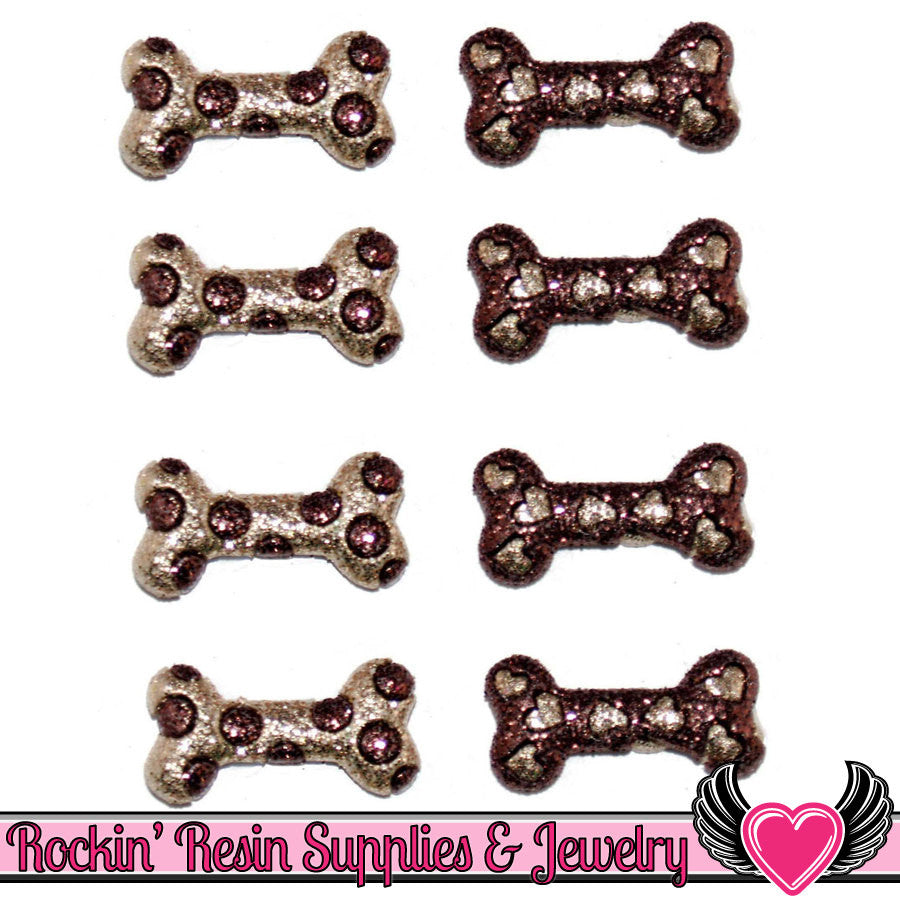 Jesse James Buttons 8 pc DOGGIE DELITES Dog Bone Buttons