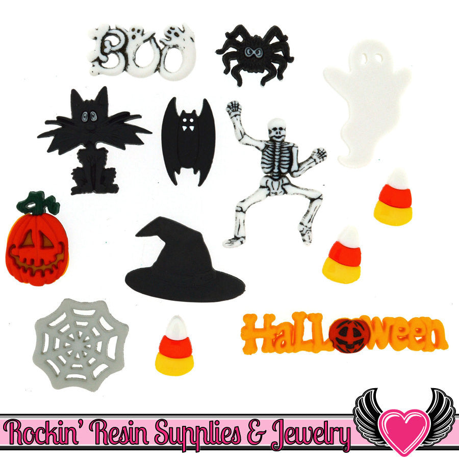 Jesse James Buttons 13 pc HALLOWEEN Buttons