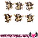 Jesse James Buttons 6 pc Sew Cute Monkeys Dress It Up 2 hole buttons - Rockin Resin