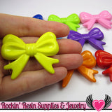 46mm LARGE BOW BEADS Multi Color Mix (4 pieces) - Rockin Resin  - 2