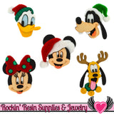 Disney Minnie & Mickey Mouse, Donald Duck, Pluto, and Goofy Christmas Licensed Buttons - Rockin Resin  - 1