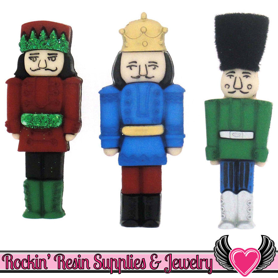 Jesse James Buttons 3pc CHRISTMAS NUTCRACKER Buttons
