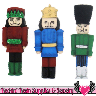 Jesse James Buttons 3pc CHRISTMAS NUTCRACKER Buttons - Rockin Resin  - 1