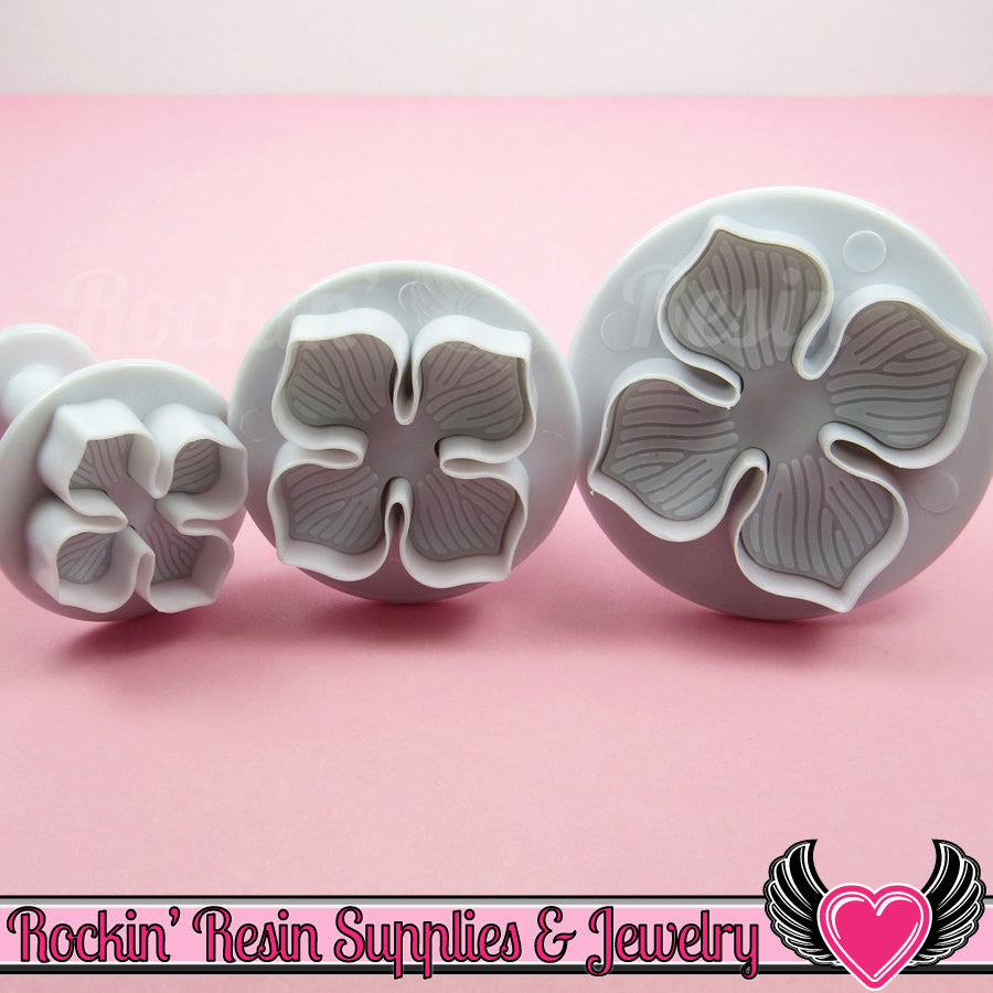 3 pc FLOWER Embossing Plunger Cutters