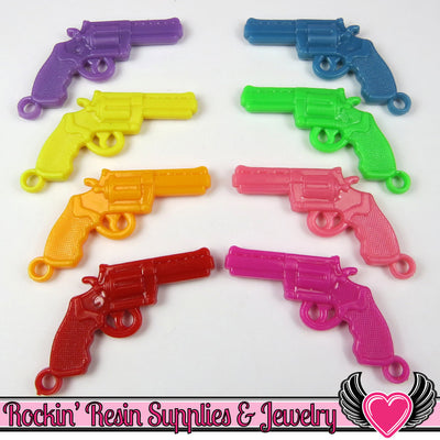 PISTOL GUN Kitsch Charms / Beads (10 pieces) - Rockin Resin  - 1