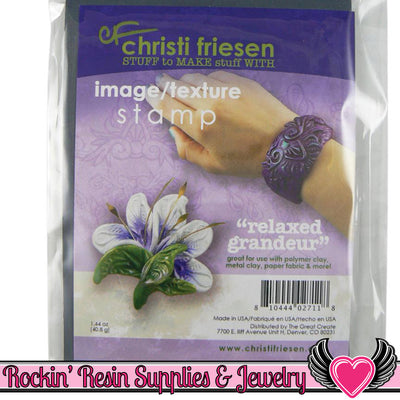 RELAXED GRANDEUR Christi Friesen Image Texture Stamp - Rockin Resin  - 1